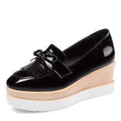 Kvinder Kunstlæder Kile Hæl Platform Kiler med Tassel sko
