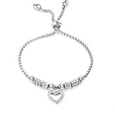 Link e Corrente Pulseiras De Dama De Honra Pulseiras de Bolo com Coração - Presentes Do Valentim Para Ela