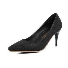 Frauen Funkelnde Glitzer Stöckel Absatz Absatzschuhe mit Funkelnde Glitzer Schuhe