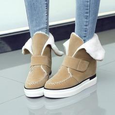 De mujer Ante Tacón plano Plataforma Botas al tobillo zapatos