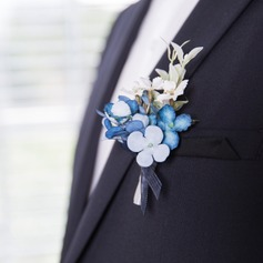 Pretty Satin/Fabric Boutonniere (Sold in a single piece) - (123177954)