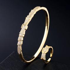 Ladies' Elegant Copper/Zircon Jewelry Sets