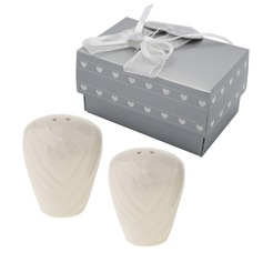 """Love Story"" Ceramic Salt & Pepper Shakers"
