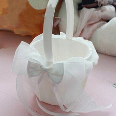 Pure Flower Basket in Organza With Bow (102065485)