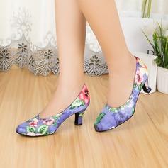 De mujer Satén Tacones Sandalias Sala de Baile Zapatos de danza (053067456)