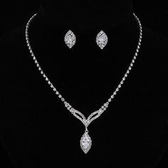 Bonito Liga/Strass/Zircon Mulheres/Senhoras Conjuntos de jóias