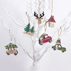 Christmas Wooden Home Décor (Set of 3)