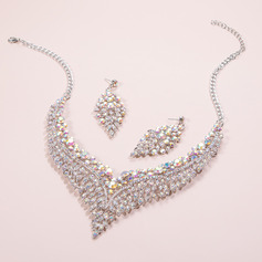 Ladies' Elegant Alloy/Rhinestones Rhinestone Jewelry Sets For Bride
