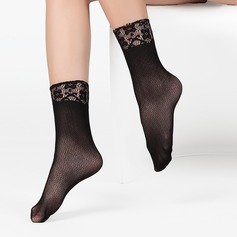Lace Top Velvet Liner Socks (Set of 6)