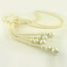 Gorgeous Imitation Pearls With Rhinestone Ladies' Fashion Necklace (137044703)