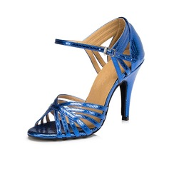 Женщины кожа На каблуках Сандалии Латино с пряжка Обувь для танцев