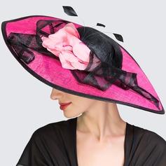 Senhoras Moda Primavera/Verão Cambraia com Chapéu de Coco / Cloche de Chapéu