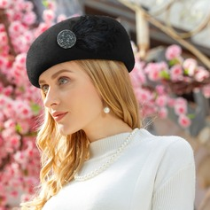 Dames Speciaal/Klassiek Wol met Feather Baret van Hat