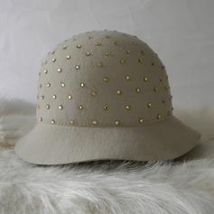 Señoras' Glamorosa Madera con Bombín / cloché Sombrero
