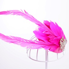 Damene ' Elegant Fjær/Legering/Rhinestone Fascinators
