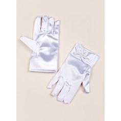 Упругие атласная с лук Наручные Длина перчатки