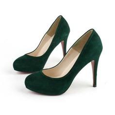 Donna Camoscio Tacco a spillo Stiletto Piattaforma scarpe