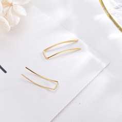 Ladies' Simple S925 Sliver Earrings For Friends/For Her