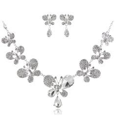 Lindo Liga com Strass Senhoras Conjuntos de jóias