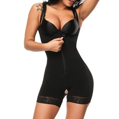 Women Sexy/Classic Lycra Breathability/Heat Insulation/Butt Lift High Waist Bodysuit With Lace Shapewear