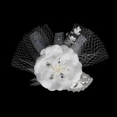 Mode Cristal Chapeaux de type fascinator/Fleurs et plumes