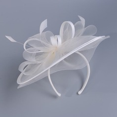 Senhoras Lovely Cambraia com Pena Fascinators/Kentucky Derby Bonés
