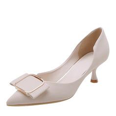 Femmes Cuir en microfibre Talon stiletto Escarpins avec Boucle chaussures