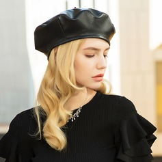 Ladies' Glamourous/Classic/Elegant Soft Sheepskin Beret Hat