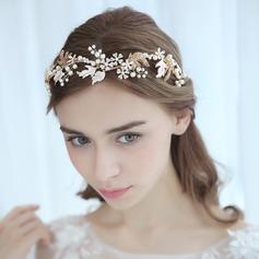 Damer Vakkert Legering Pannebånd med Venetianske Perle (Selges i ett stykke)
