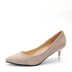 Women's Suede Stiletto Heel Pumps Closed Toe With Others shoes