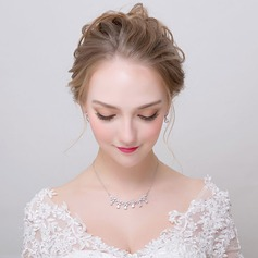 Elegant Alloy/Zircon Ladies' Jewelry Sets