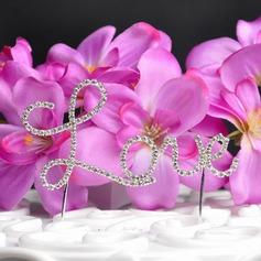 Amor Projeto Cromado Casamento Decorações de bolos