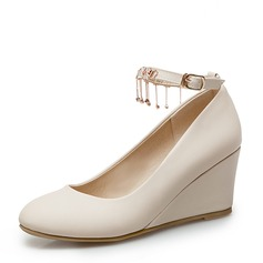 Women's PVC Wedge Heel Pumps Wedges With Chain shoes