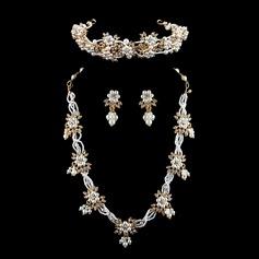 Exquisite Liga/Pérolas de imitação com Strass Senhoras Conjuntos de jóias