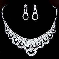 Elegante Aleación/Diamantes de imitación Señoras' Sistemas de la joyería