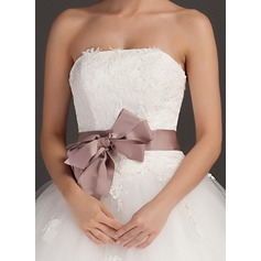 Elegant Charmeuse Sash With Flower