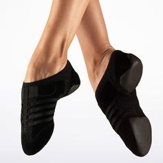 Frauen Veloursleder Flache Schuhe Jazz Tanzschuhe