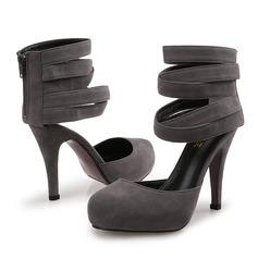 Vrouwen Fluwelen Stiletto Heel Pumps met Rits schoenen