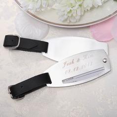 Персонализированные простой Нержавеющая сталь Бирки для багажа (Набор из 2)