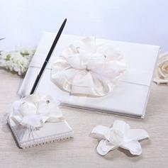 Elegante Livro de visitas & conjunto de canetas