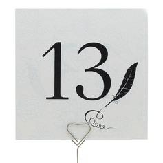 Pena Papel Pérola Número da mesa Cartões (Conjunto de 10)