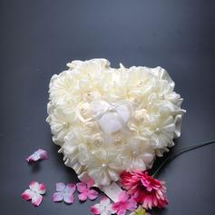 Sonnenblume Ring Kissen in Stoff mit Bänder/Faux-Perlen
