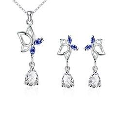 Elegante Cobre/Zircon/Prateado Senhoras Conjuntos de jóias