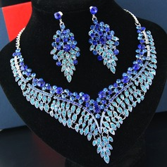 Ladies' Elegant Alloy/Rhinestones Rhinestone Jewelry Sets For Bride (011197257)