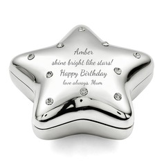Personalized Star Design Zinc Alloy Jewelry Holders
