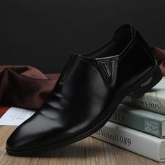 Menn Semsket Munk-stropper Avslappet Pen sko Oxfordsko til herre