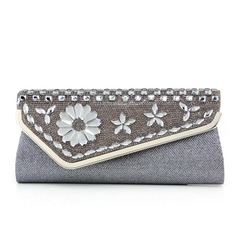 Elegant Polyester/Stainless Steel Clutches