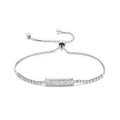 Anti-oxidatie Uitspraak Schakelketting Bruids armbanden Bruidsmeisje armbanden met Kubieke Zirkonia -