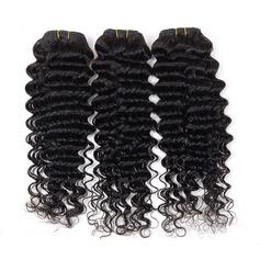 4A Nicht remy Tief Menschliches Haar Geflecht aus Menschenhaar (Einzelstück verkauft) 100g