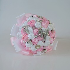 Hand-tied Satin Bridal Bouquets (Sold in a single piece) - Bridal Bouquets